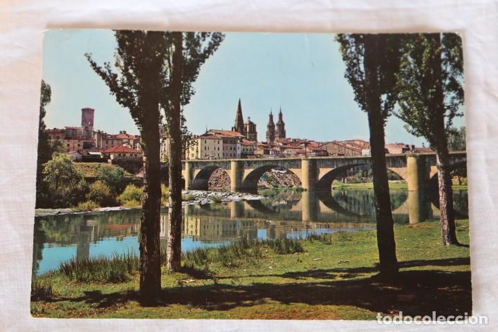 LOGROÑO. PUENTE DE PIEDRA SOBRE EL EBRO. GARCÍA GARRABELLA Y CÍA Nº 1. POSTAL (Postales - España - La Rioja Moderna (desde 1.940))