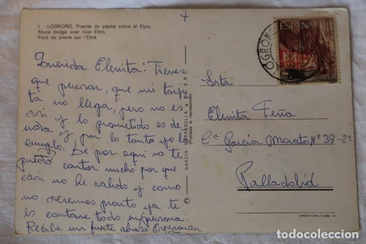 Postales: Logroño. Puente de piedra sobre el Ebro. García Garrabella y Cía nº 1. Postal - Foto 2 - 154430030