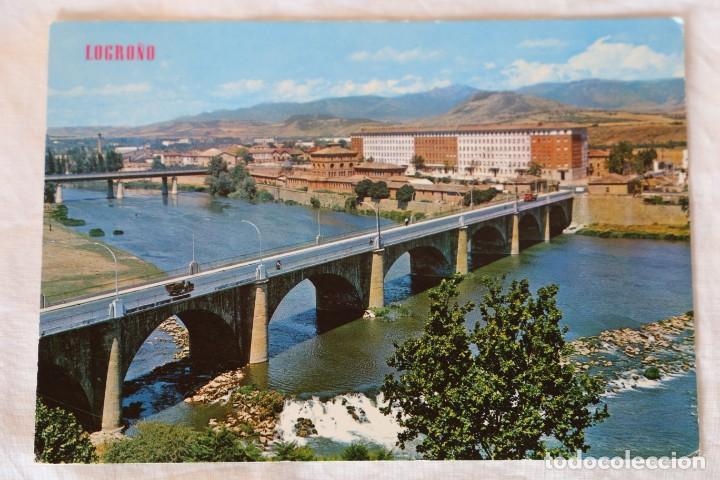 LOGROÑO -PUENTE SOBRE EL RIO EBRO- (EDICIONES PARÍS - J.M. Nº 193) (Postales - España - La Rioja Moderna (desde 1.940))