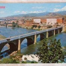 Postales: LOGROÑO -PUENTE SOBRE EL RIO EBRO- (EDICIONES PARÍS - J.M. Nº 193). Lote 154430346