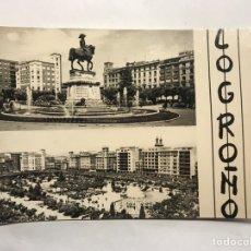 Postales: LOGROÑO. POSTAL NO.58 - 67, MONUMENTO A ESPARTERO Y FUENTE. VISTA GENERAL DEL ESPARTERO.. Lote 155236126