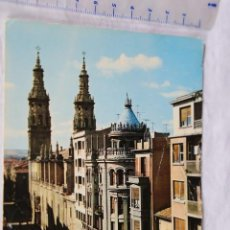 Postales: LOGROÑO CALLE DE LA MOLA Y COLEGIATA DE STA MARIA Nº 2008 RENAULT 4 CIRCULADA 1968 VILLATURIEL LEON. Lote 156761434