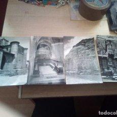 Postales: LOTE DE CUATRO POSTALES EN BLANCO Y NEGRO DE EDICIONES SICILIA ZARAGOZA. Lote 159727602
