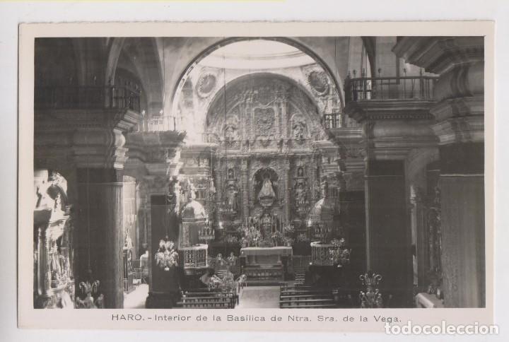 POSTAL. HARO. INTERIOR DE LA BASÍLICA DE NUESTRA SEÑORA DE LA VEGA. LA RIOJA. (Postales - España - La Rioja Moderna (desde 1.940))