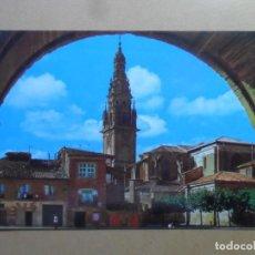 Postales: POSTAL - 7467 - SANTO DOMINGO DE LA CALZADA (LOGROÑO) - VISTA GENERAL Y TORRE CATEDRAL - ED. BEASCOA. Lote 168257816