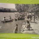 Postales: PLAYA EBRO LOGROÑO ED SICILIA CIRCULADA 1963 MUY ANIMADA. Lote 168287160