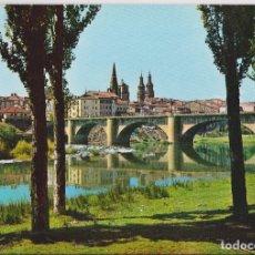 Postales: LOGROÑO, PUENTE DE PIEDRA SOBRE EL EBRO - GARCIA GARRABELLA Nº 1 - EDITADA EN 1964 - CIRCULADA. Lote 168817808