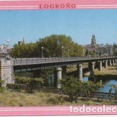 Postales: POSTAL DE LA RIOJA. LOGROÑO. VISTA PARCIAL Y PUENTE DE HIERRO P-RIOJA-051. Lote 171107537