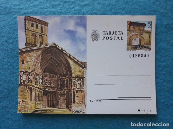 LOGROÑO. IGLESIA DE SAN BARTOLOMÉ. (Postales - España - La Rioja Moderna (desde 1.940))