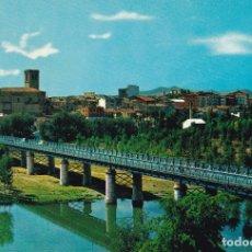 Postales: LOGROÑO VISTA PARCIAL PUENTE DE HIERRO ED. BEASCOA Nº 7408 AÑO 1964. Lote 173724944