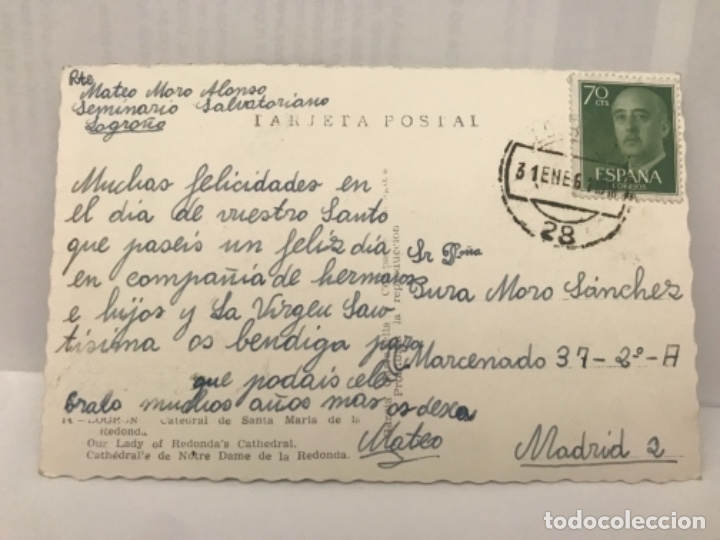 Postales: Logroño fotografica catedral santa maria redonda fachada garcia Garrabella - Foto 2 - 176877027