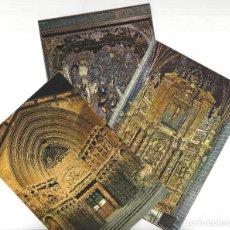 Cartoline: LOTE DE 3 POSTALES- LOGROÑO.- CATEDRAL. PORTADA DE SAN BARTOLOME- SIN CIRCULAR. Lote 183946937