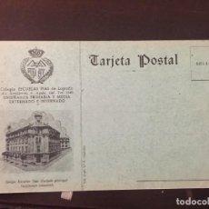 Postales: POSTAL LOGROÑO ESCUELAS PÍAS, INTERNADO. Lote 184124848