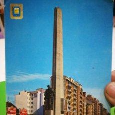 Postales: POSTAL LOGROÑO MONUMENTO AL LABRADOR 1975 ESCRITA Y SELLADA N 23 DOMÍNGUEZ. Lote 186012830