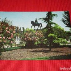 Postales: LOGROÑO - JARDINES DEL ESPOLON Y ESTATUA DEL GENERAL ESPARTERO - 2023 - ESCRITA Y CIRCULADA. Lote 189211911