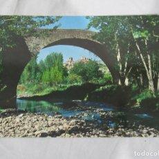 Postales: ENCISO (LOGROÑO) - PUENTE ROMANO Y VISTA PARCIAL - CIRCULADA. Lote 190545362