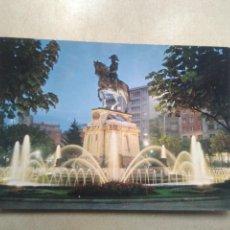 Postales: POSTAL LOGROÑO, ESTATUA DEL GENERAL ESPARTERO, NOCTURNA. Lote 191790681