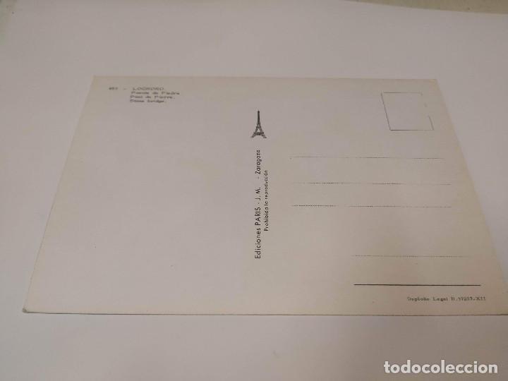 Postales: LA RIOJA - POSTAL LOGROÑO - PUENTE DE PIEDRA - Foto 2 - 193735123