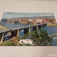 Postales: LA RIOJA - POSTAL LOGROÑO - PUENTE SOBRE EL RÍO EBRO. Lote 193735175