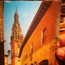 Cartes Postales: POSTAL SANTO DOMINGO DE LA CALZADA LOGROÑO PARADOR NACIONAL Y TORRE CATEDRAL N 7468 CALPEÑA BEASCOA . Lote 199435610
