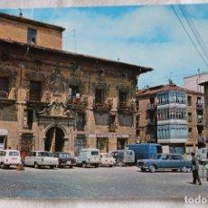 Postales: 9 HARO LA RIOJA PALACIO DE LA CRUZ ALARDE - SELLO 1971 COCHES RENAULT 4 8 F6 CITROEN FURGON GUARDIA. Lote 202467677