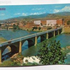 Postales: POSTAL LOGROÑO POSTCARD - PUENTE SOBRE EL RIO EBRO - EDICIONES PARIS J.M. 193. Lote 204615973
