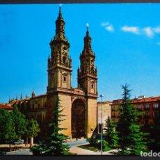 Postales: LOGROÑO, CATEDRAL POSTAL CIRCULADA DEL AÑO 1968. Lote 205573375