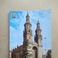 Postales: POSTAL LOGROÑO,CATEDRAL DE SANTA MARIA DE LA REDONDA. Lote 206231281