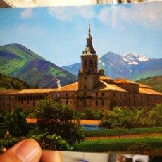 Cartoline: POSTAL MONASTERIO DE YUSO SAN MILLÁN DE LA COGOLLA RIOJA PANORÁMICA DEL MONASTERIO N 1 ESCUDO DE ORO. Lote 207122003