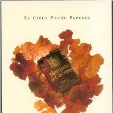 Postales: POSTAL VINO LA RIOJA MARQUES DE CACERES EL CIELO PUEDE ESPERAR 1994. Lote 207233163