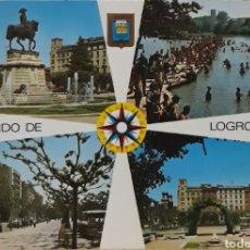 Postales: POSTAL N°25 MONUMENTO A ESPARTERO EBRO PASEO DEL ESPOLÓN LA ROSALEDA LOGROÑO. Lote 209894485
