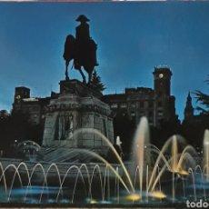 Postales: POSTAL N°6 PLAZA DEL ESPOLÓN Y MONUMENTO AL GENERAL ESPARTERO LOGROÑO. Lote 209895402