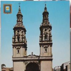 Postales: POSTAL N°7 CATEDRAL DE SANTA MARÍA DE LA REDONDA LOGROÑO. Lote 209895920