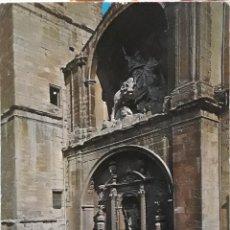 Postales: POSTAL N°513 SERIE 85 PUERTA DE LA IGLESIA DE SANTIAGO LOGROÑO. Lote 209896357