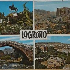 Postales: POSTAL N°7442 LOGROÑO DIVERSOS ASPECTOS. Lote 209896591