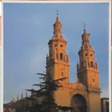 Postales: POSTAL N°223 TORRES GEMELAS CATEDRAL DE LA REDONDA LOGROÑO. Lote 209896686