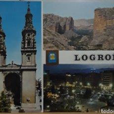 Postales: POSTAL N°24 LOGROÑO DIVERSOS ASPECTOS. Lote 209897170