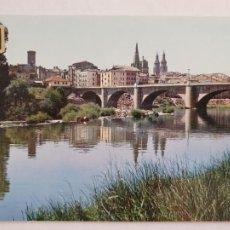 Cartes Postales: LOGROÑO - PUENTE DE PIEDRA SOBRE EL EBRO - LMX - LR. Lote 216590728