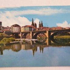 Cartes Postales: LOGROÑO - PUENTE DE PIEDRA SOBRE EL EBRO - LMX - LR. Lote 216590782