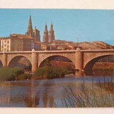 Cartes Postales: LOGROÑO - PUENTE Y TORRES MONUMENTALES - LMX - LR. Lote 216590953