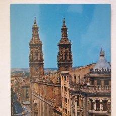 Cartes Postales: LOGROÑO - CALLE GENERAL MOLA Y CATEDRAL AL FONDO - LMX - LR. Lote 216591156