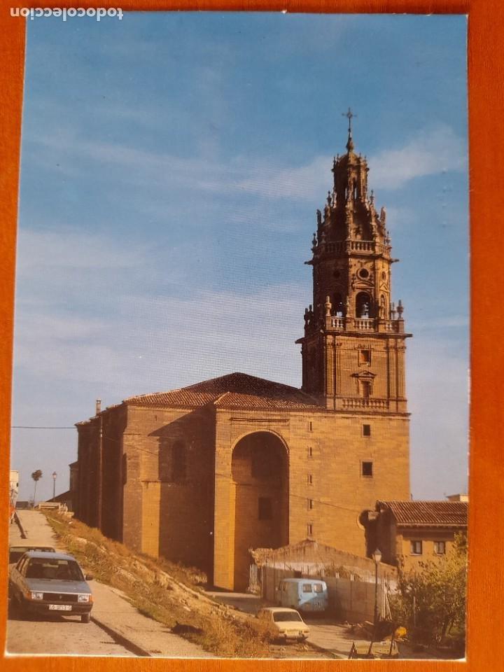 4999 HARO LA RIOJA IGLESIA DE SANTO TOMAS COCHES RENAULT 9 - 12 MERCEDES DKW (Postales - España - La Rioja Moderna (desde 1.940))