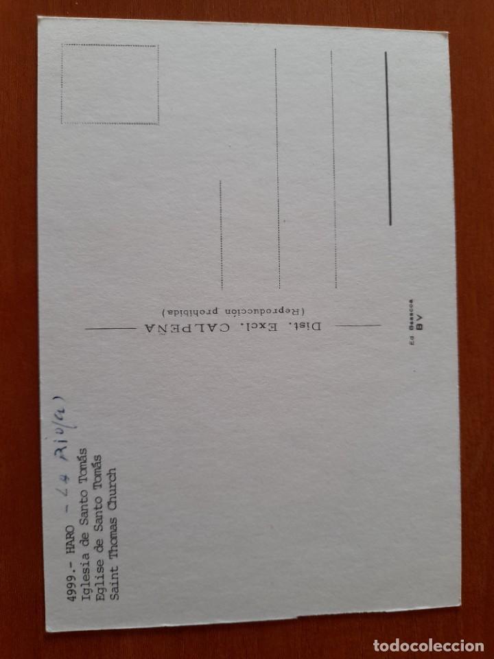 Postales: 4999 HARO LA RIOJA IGLESIA DE SANTO TOMAS COCHES RENAULT 9 - 12 MERCEDES DKW - Foto 2 - 218304691