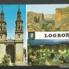 Postales: POSTAL SIN CIRCULAR - LOGROÑO 24 - DIVERSOS ASPECTOS - EDITA ESCUDO DE ORO. Lote 219232663