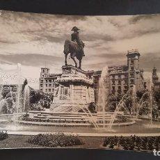 Cartoline: LOGROÑO, PASEO DEL ESPOLON, ESTATUA DEL GRAL. ESPARTERO Y FUENTE. Lote 220610430