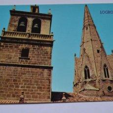 Postales: POSTAL. 127. LOGROÑO. TORRE Y AGUJA DEL PALACIO. ED. PARÍS. NO ESCRITA.. Lote 221837967
