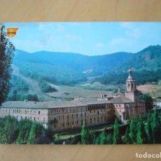 Postales: SAN MILLÁN DE LA COGOLLA (LA RIOJA) - VISTA GENERAL DEL MONASTERIO (ESCRITA). Lote 222438722