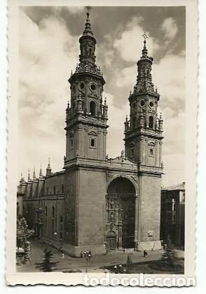 ANTIGUA POSTAL 81 LOGROÑO COLEGIATA DE SANTA MARIA DE LA REDONDA EDICIONES ARRIBAS (Postales - España - La Rioja Moderna (desde 1.940))