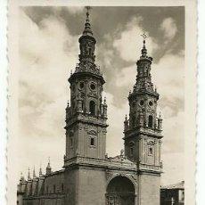 Postales: ANTIGUA POSTAL 81 LOGROÑO COLEGIATA DE SANTA MARIA DE LA REDONDA EDICIONES ARRIBAS. Lote 222556761