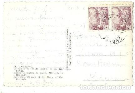 Postales: ANTIGUA POSTAL 81 LOGROÑO COLEGIATA DE SANTA MARIA DE LA REDONDA EDICIONES ARRIBAS - Foto 2 - 222556761